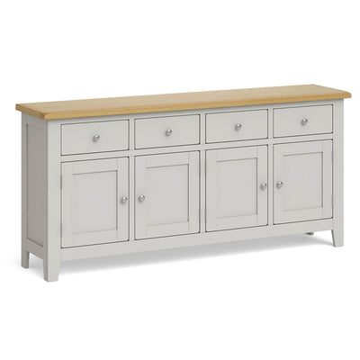 Lundy Grey Extra Large Sideboard Unit by Roseland Furniture