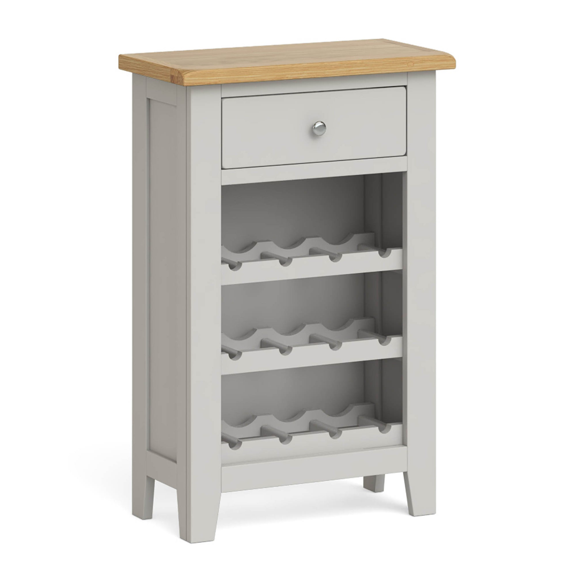 Lundy Grey Wine Rack Cabinet by Roseland Furniture