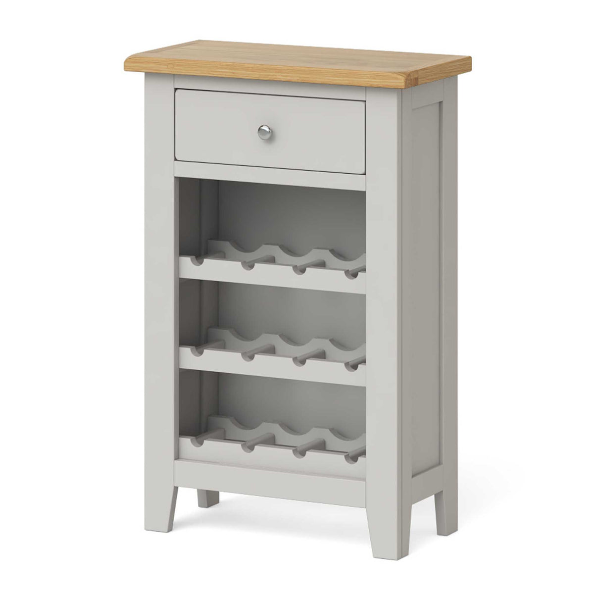 Lundy Grey Wine Rack Cabinet - Side view