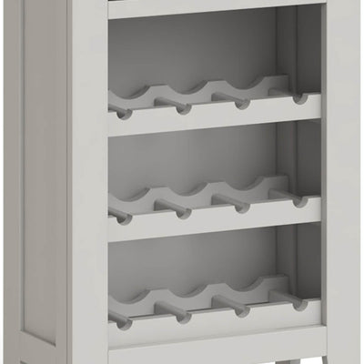 Lundy Grey Wine Rack Cabinet - Close Up of Wine Racks