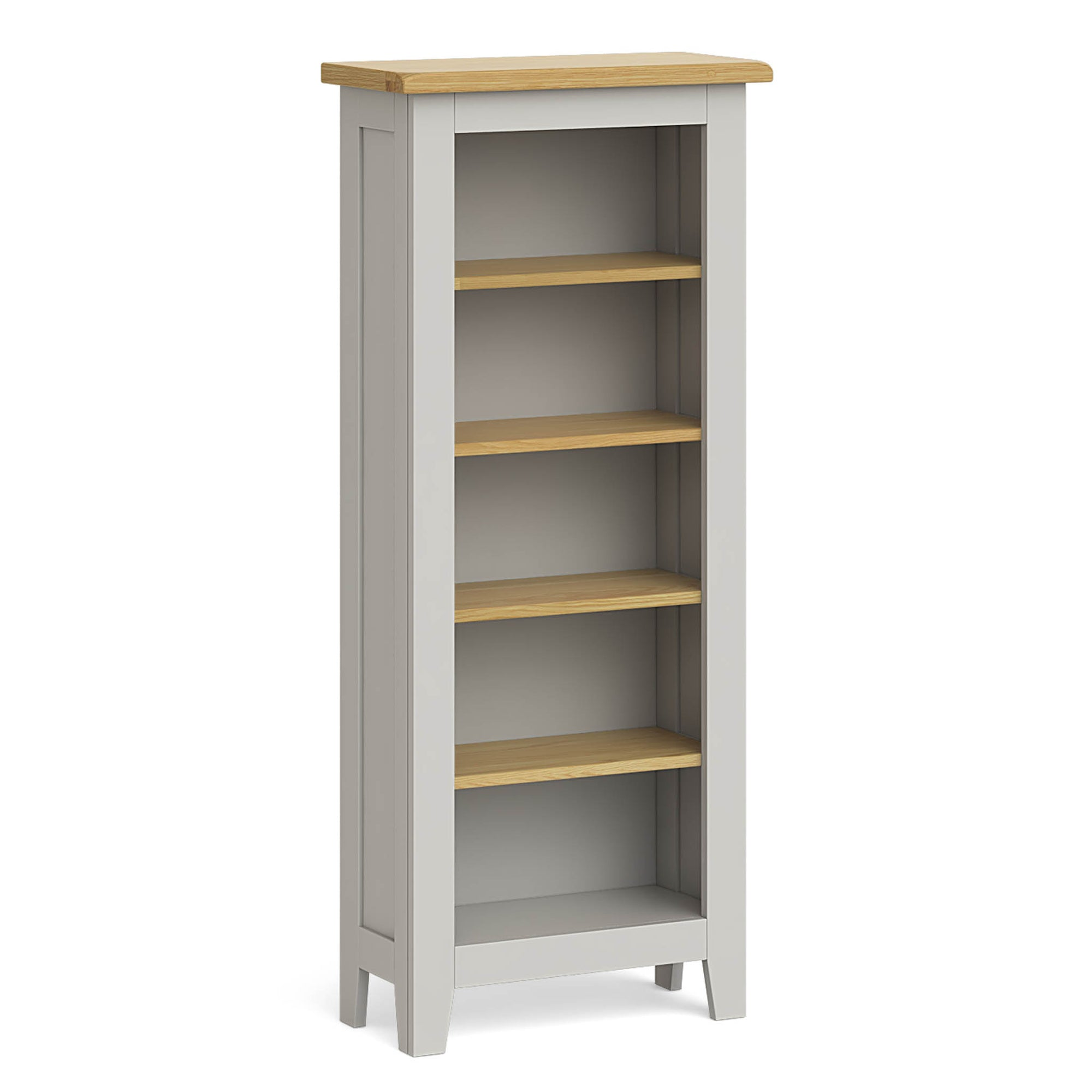 Lundy Grey Narrow Bookcase by Roseland Furniture
