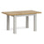 Lundy Grey Compact Extending Dining Table - Extended view
