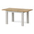 Lundy Grey Small Extending Oak Topped Dining Table