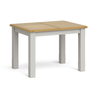 Lundy Grey Compact Extending Dining Table by Roseland Furniture