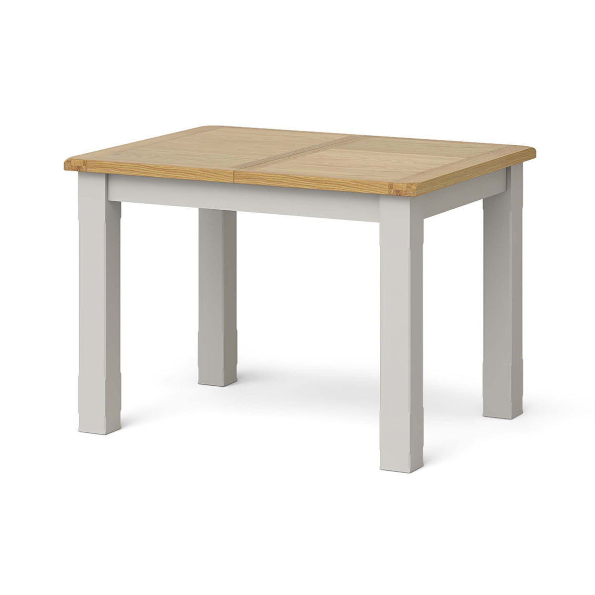 Lundy Grey Compact Extending Dining Table - Closed view
