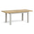 Lundy Grey Small Extending Oak Topped Dining Table - Extended view
