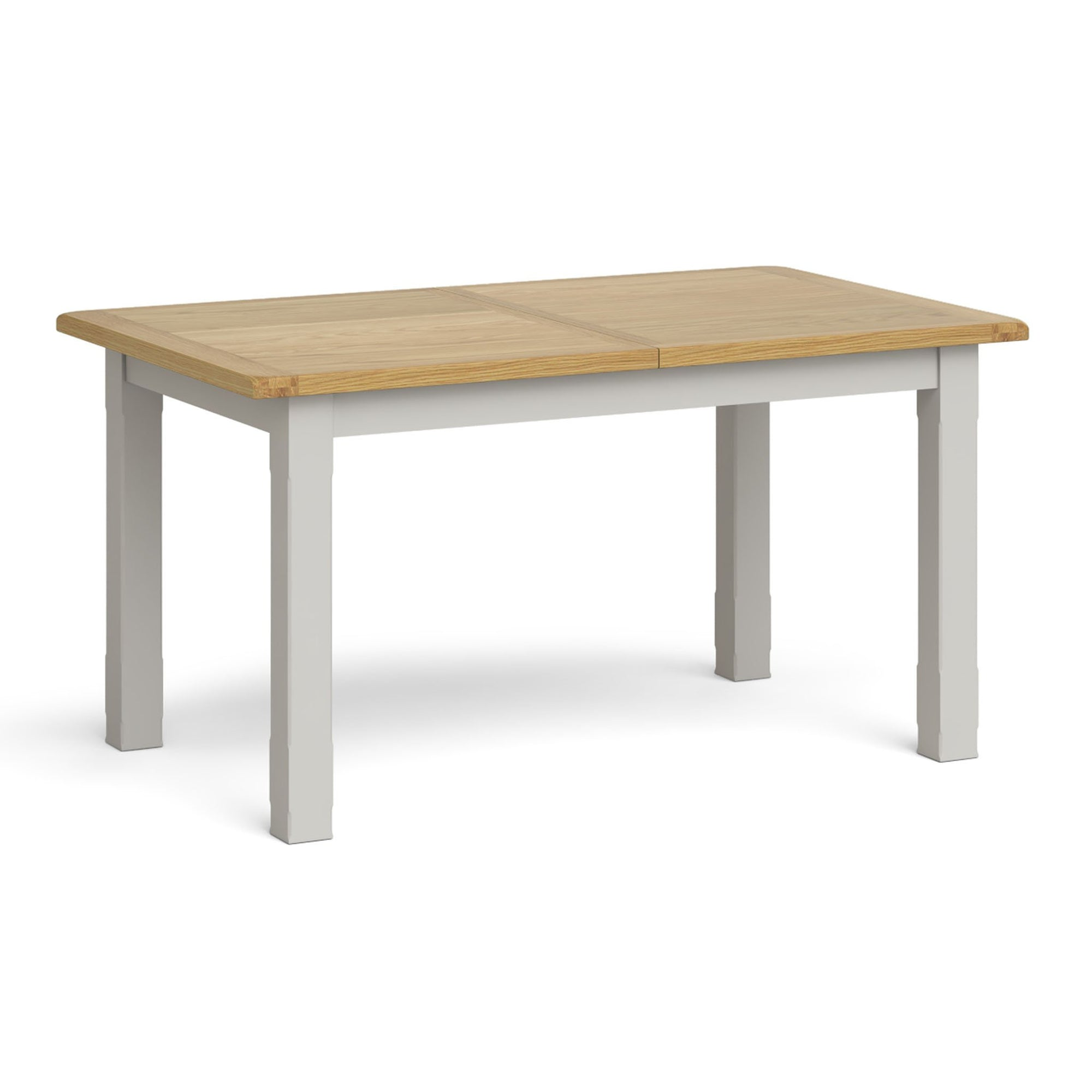 Lundy Grey Small Extending Oak Topped Dining Table by Roseland Furniture