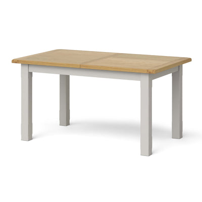 Lundy Grey Small Extending Oak Topped Dining Table - Closed