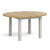Lundy Grey Round Extending Dining Table - Extended view