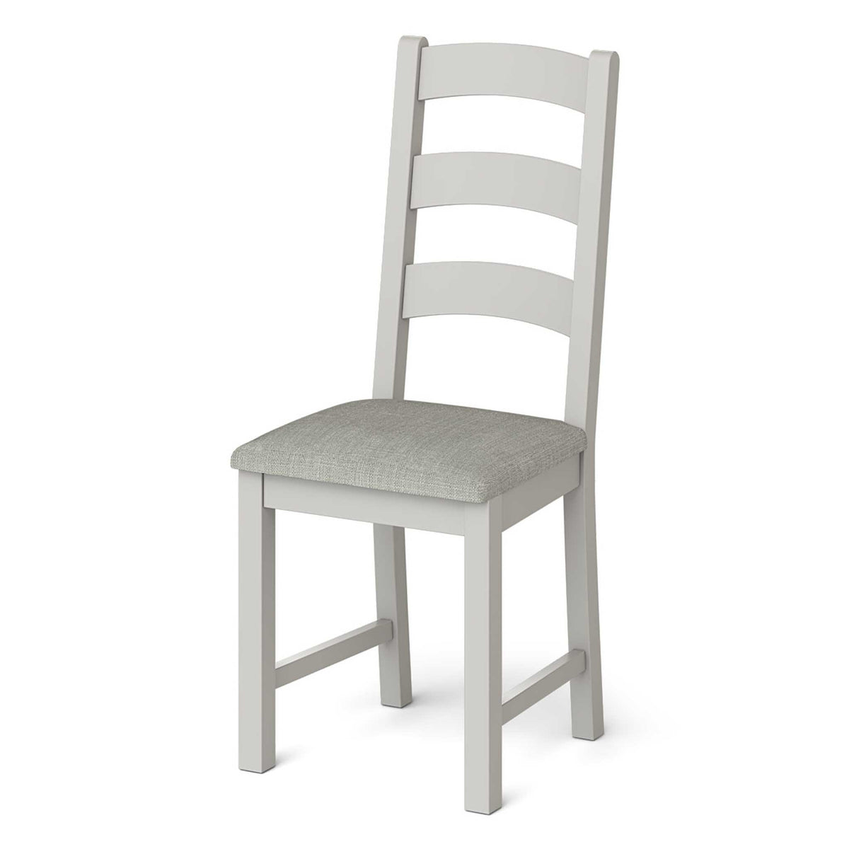 Lundy Grey Ladder Back Dining Chair - Side view