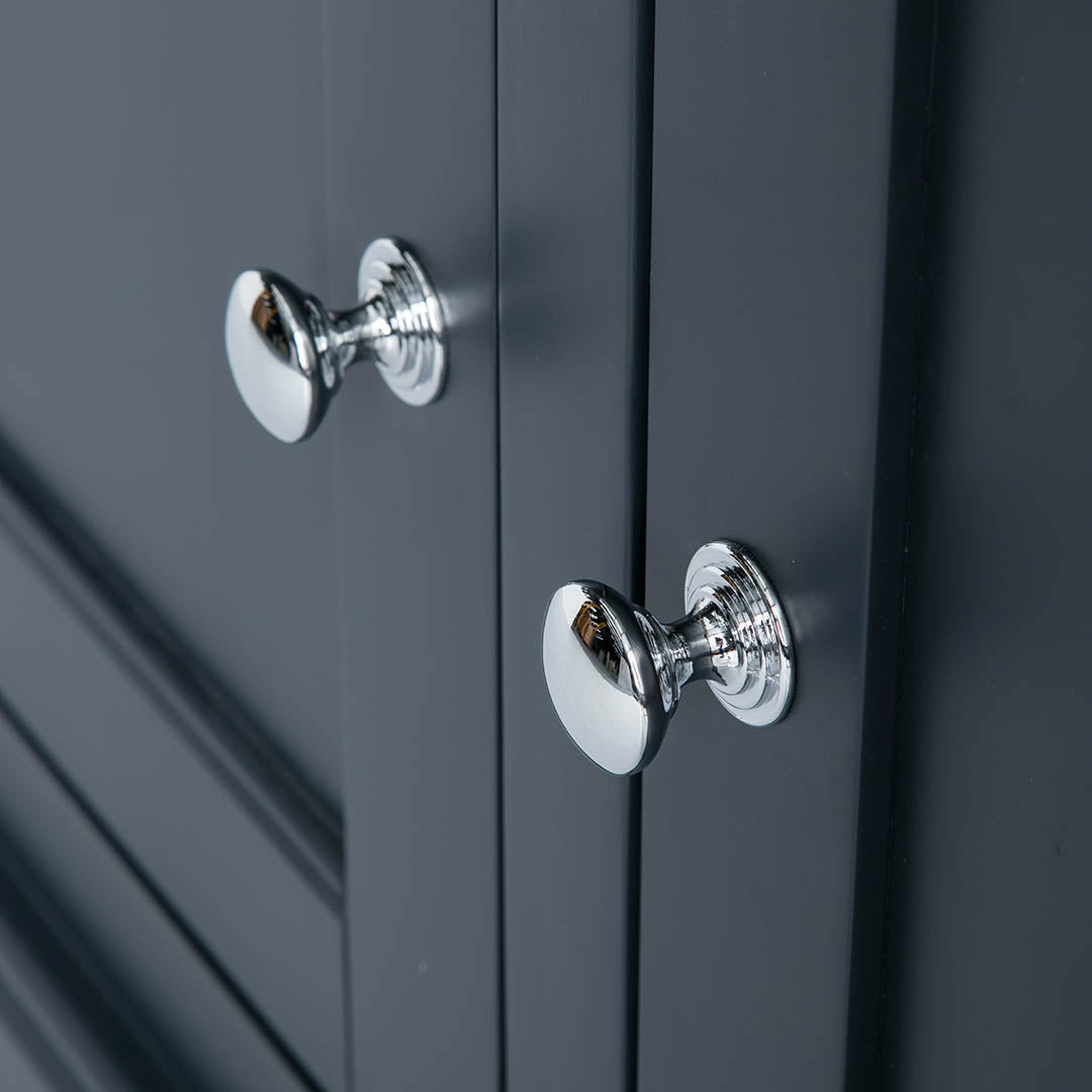Close up of the double door handles on the Chichester Charcoal Extra Large Sideboard