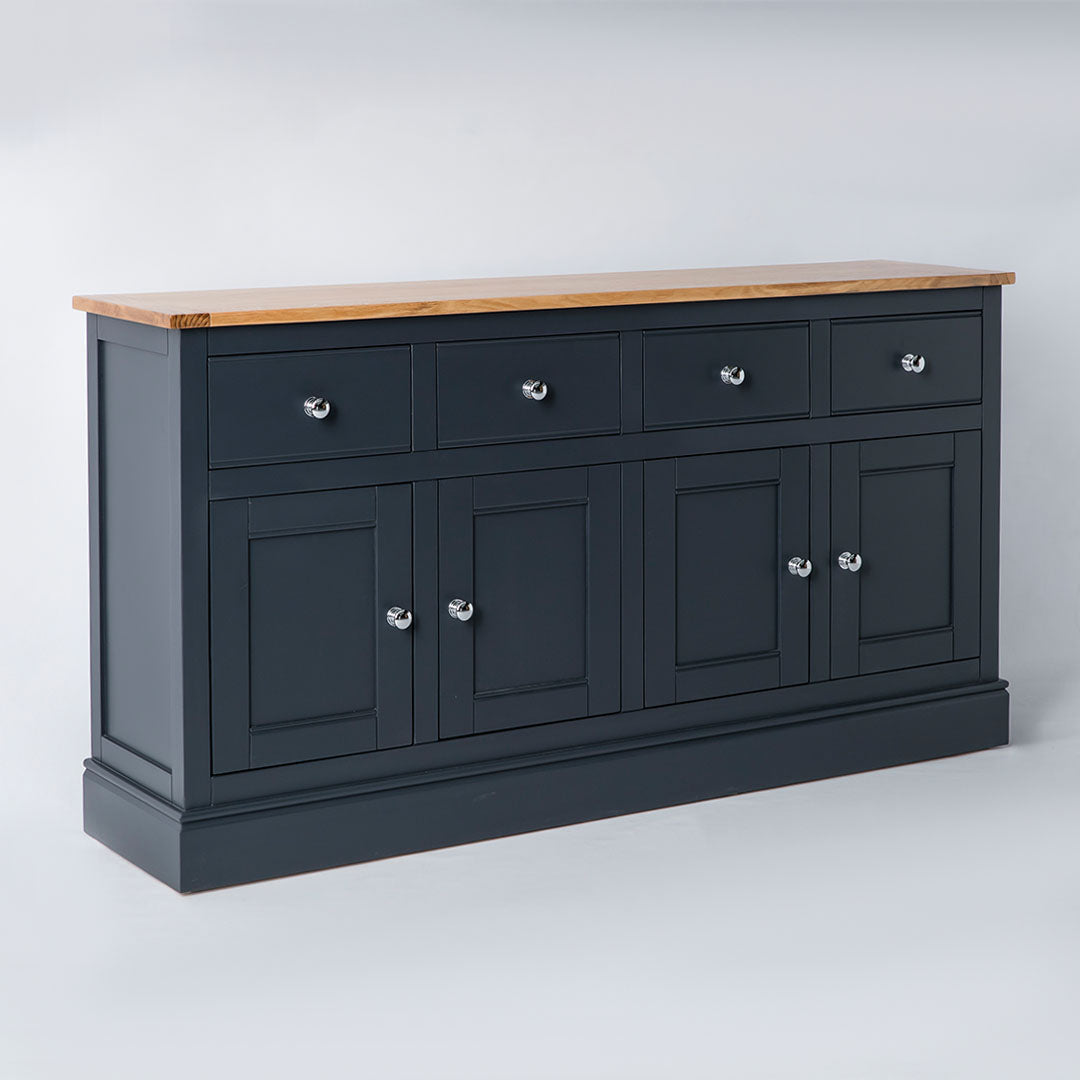 Side view of the Chichester Black Extra Large Sideboard