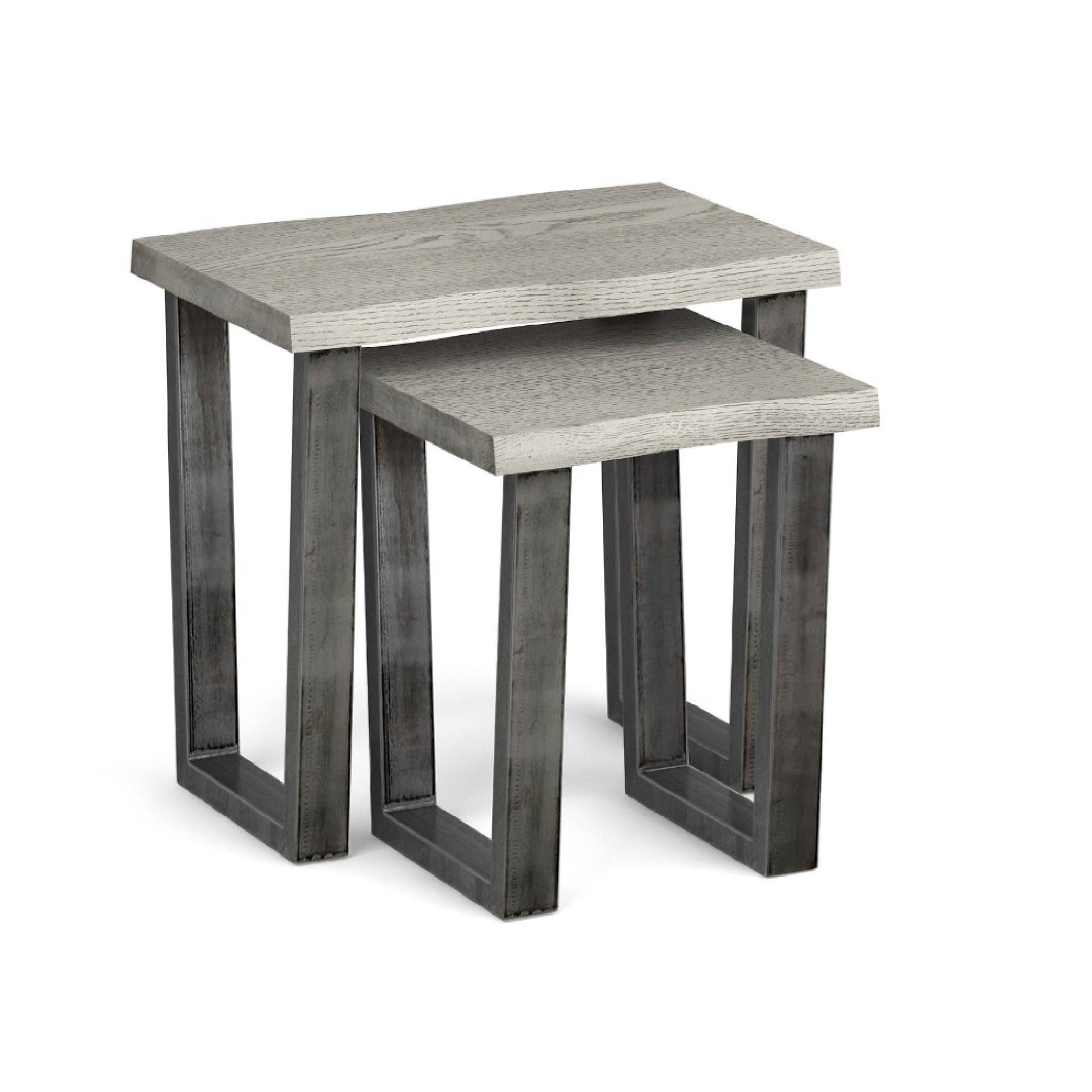 The Soho Grey Industrial Wood & Metal Nest of Tables from Roseland Furniture