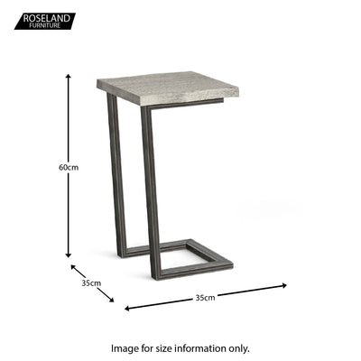 Soho Side Occasional Table - size guide
