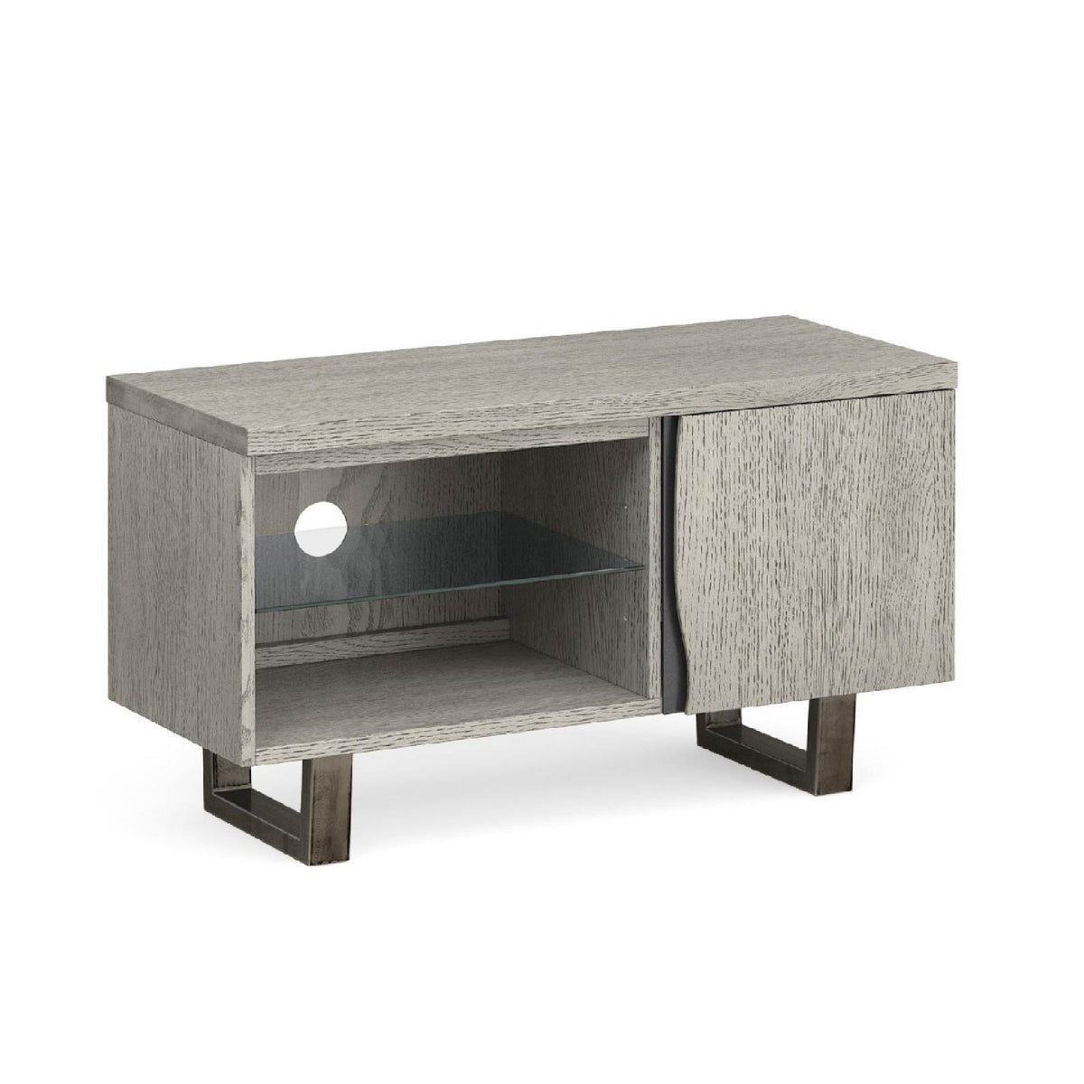 Soho Small 90 cm TV Stand with Glass Shelf by Roseland Furniture