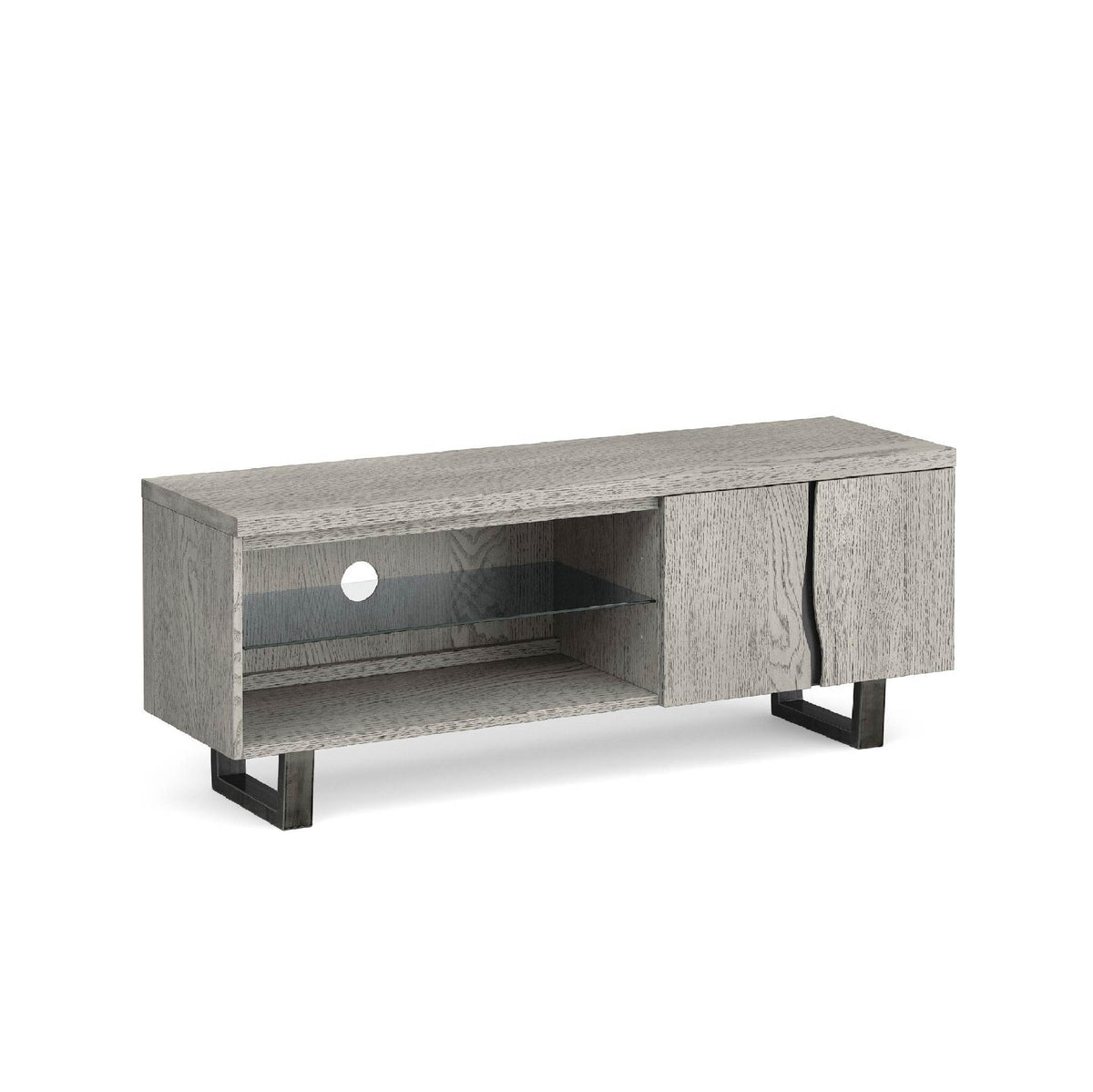Soho Large 130 cm TV Stand with Glass Shelf by Roseland Furniture