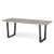 Soho Large Industrial Grey Dining Table with Oak Top and Metal Legs - Side view