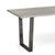 Soho Large Industrial Grey Dining Table - Close up Oak Top and Metal Legs