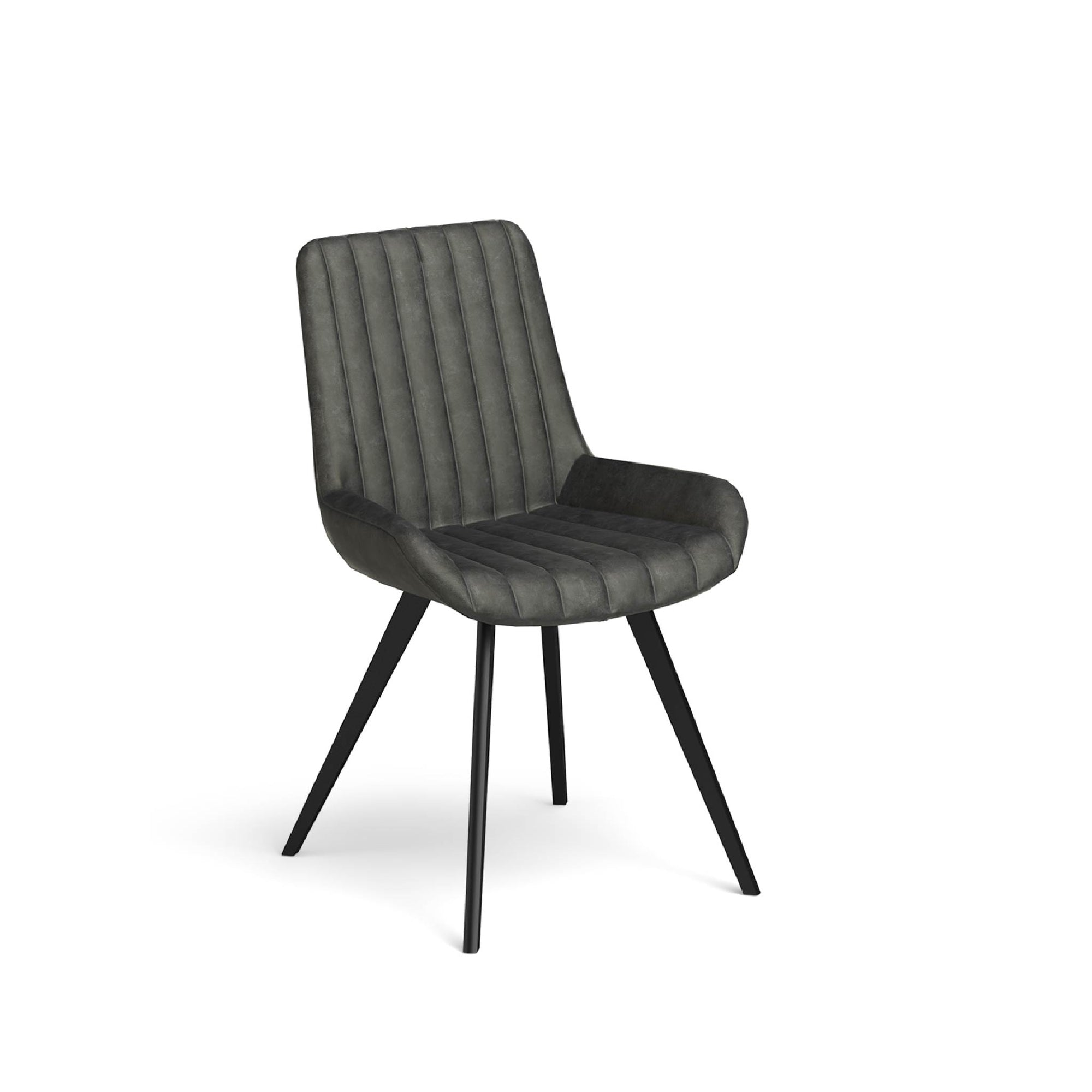 Soho Dining Chair with soft waxed coated seating by Roseland Furniture
