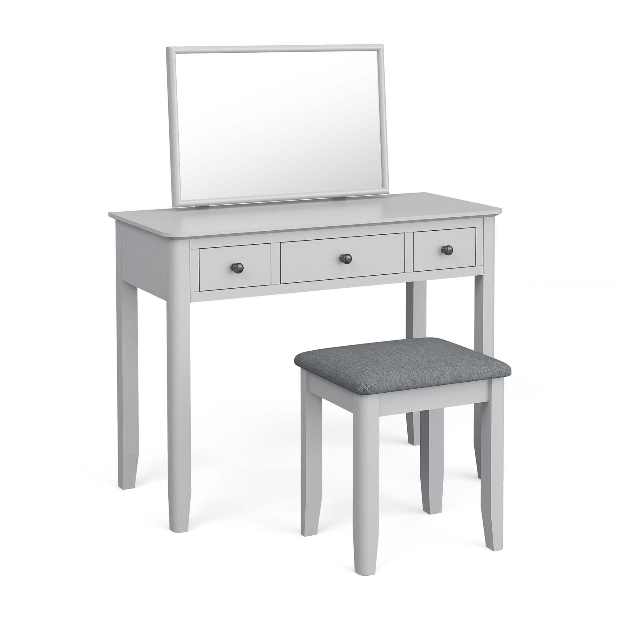 Elgin Dressing Table Set with Vanity Mirror & Stool by Roseland Furniture