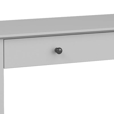 close up of gunmetal grey handles on the Elgin Grey Home Office Desk