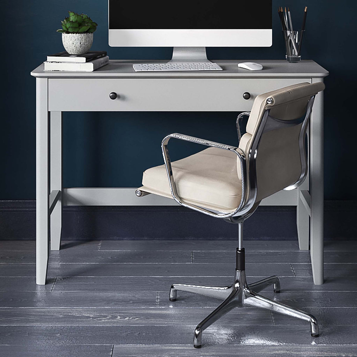 Elgin Grey Computer Desk from Roseland Furniture