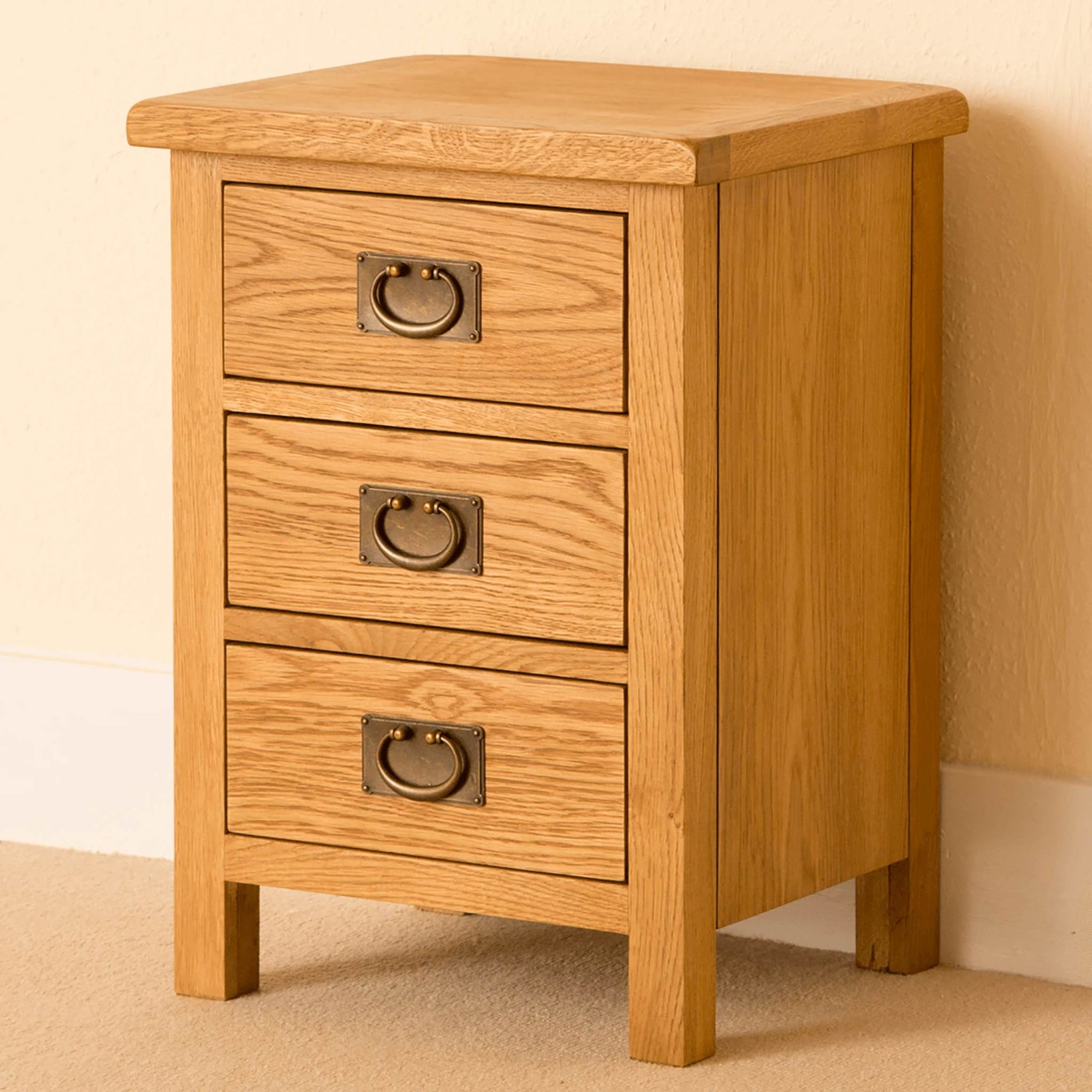 Lanner Oak Bedside Table by Roseland Furniture