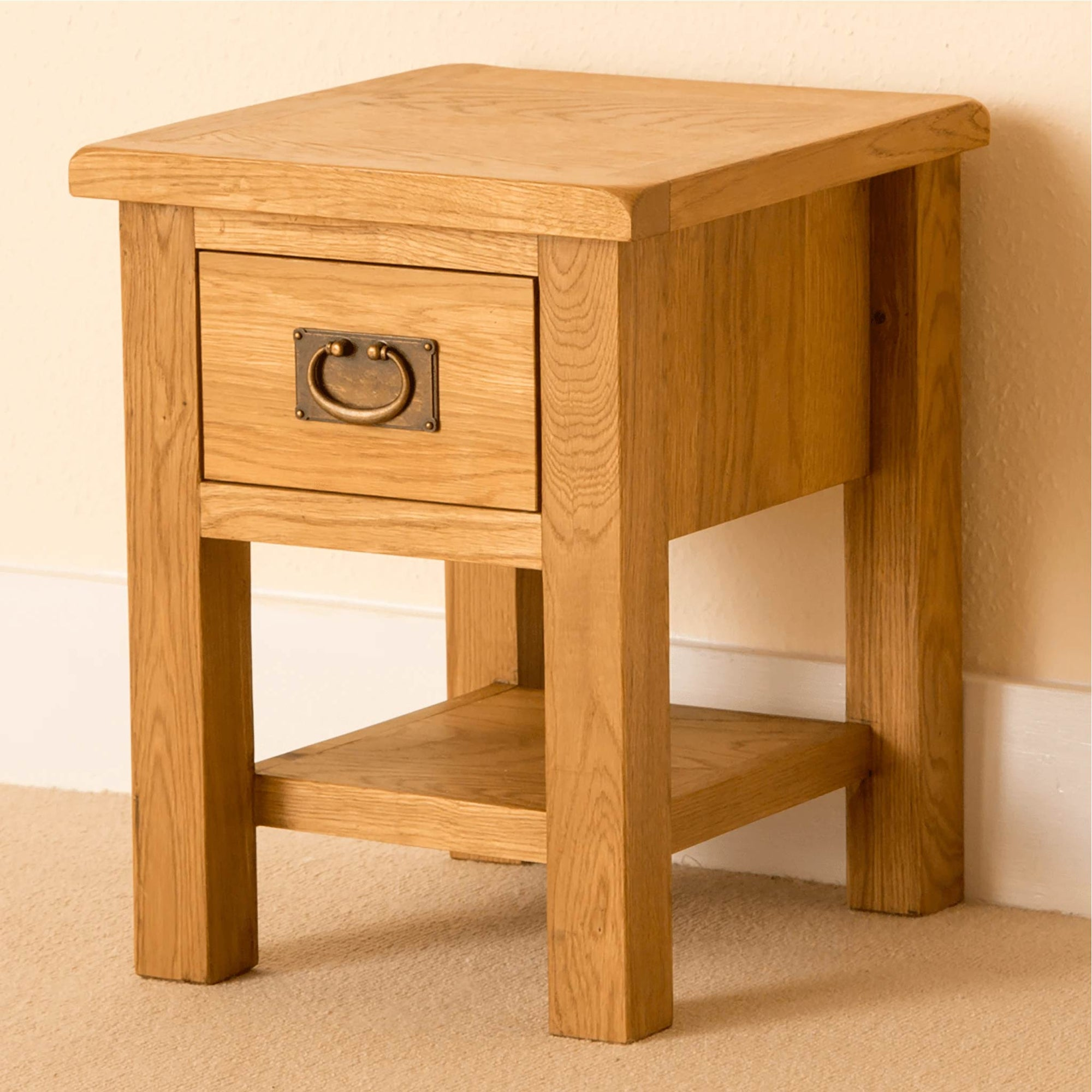 Lanner Oak Lamp Side Table by Roseland Furniture