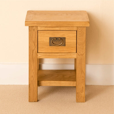 Lanner Oak Lamp Table front view