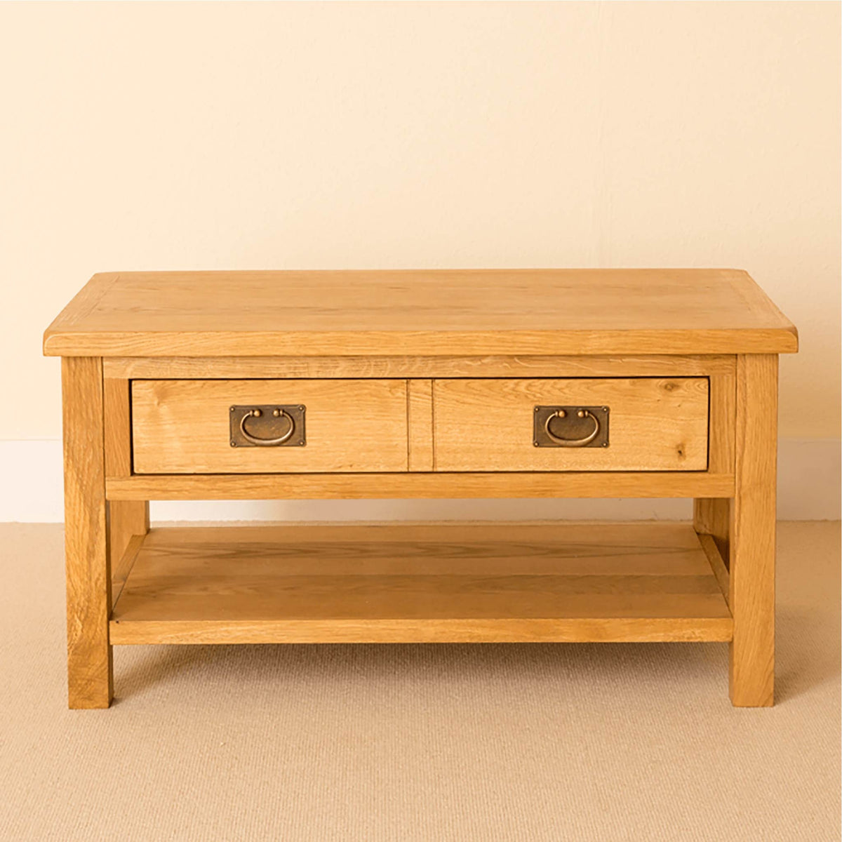 Lanner Oak Coffee Table front view