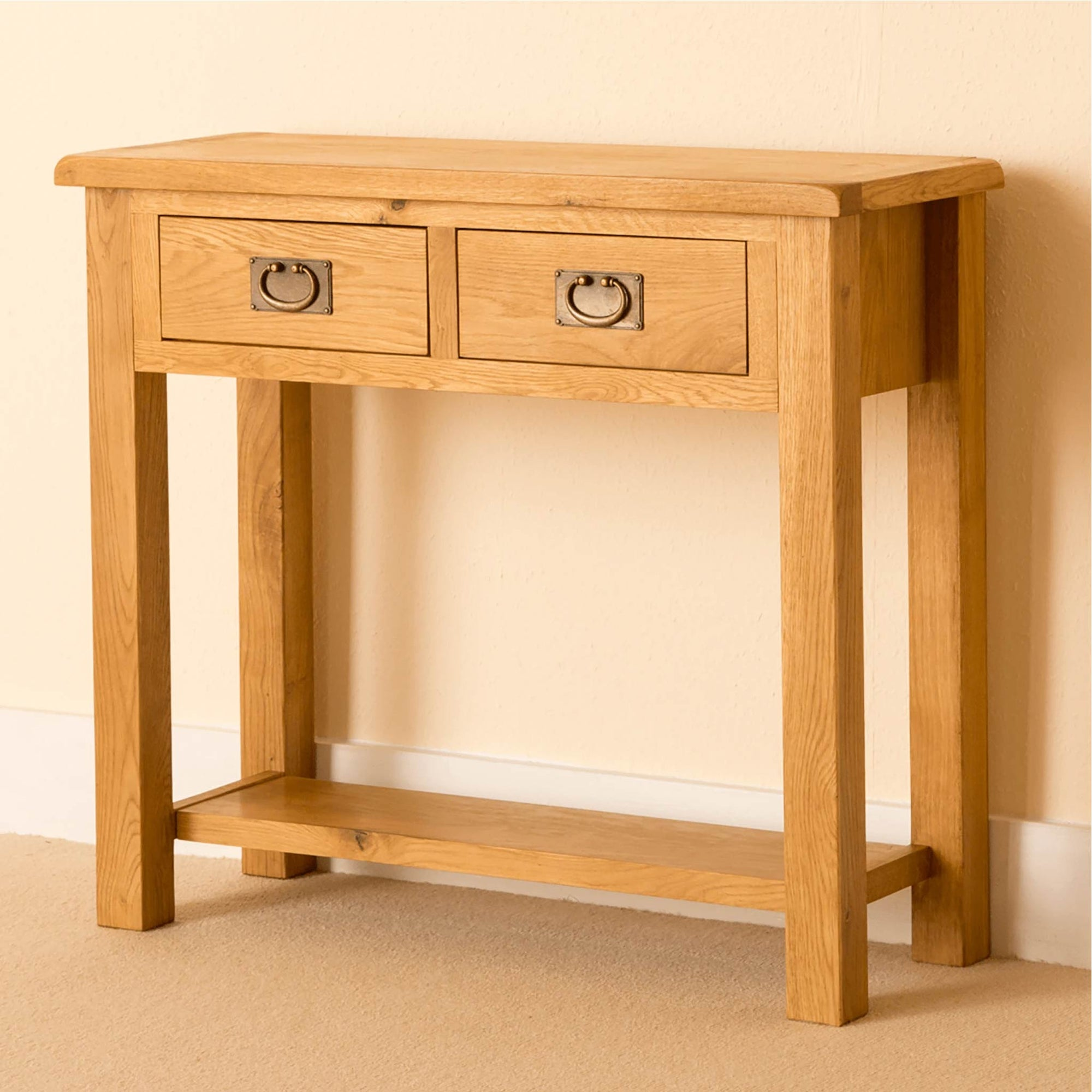 Lanner Oak Console Table by Roseland Furniture