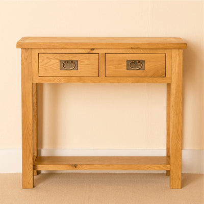 Lanner Oak Console Table front view