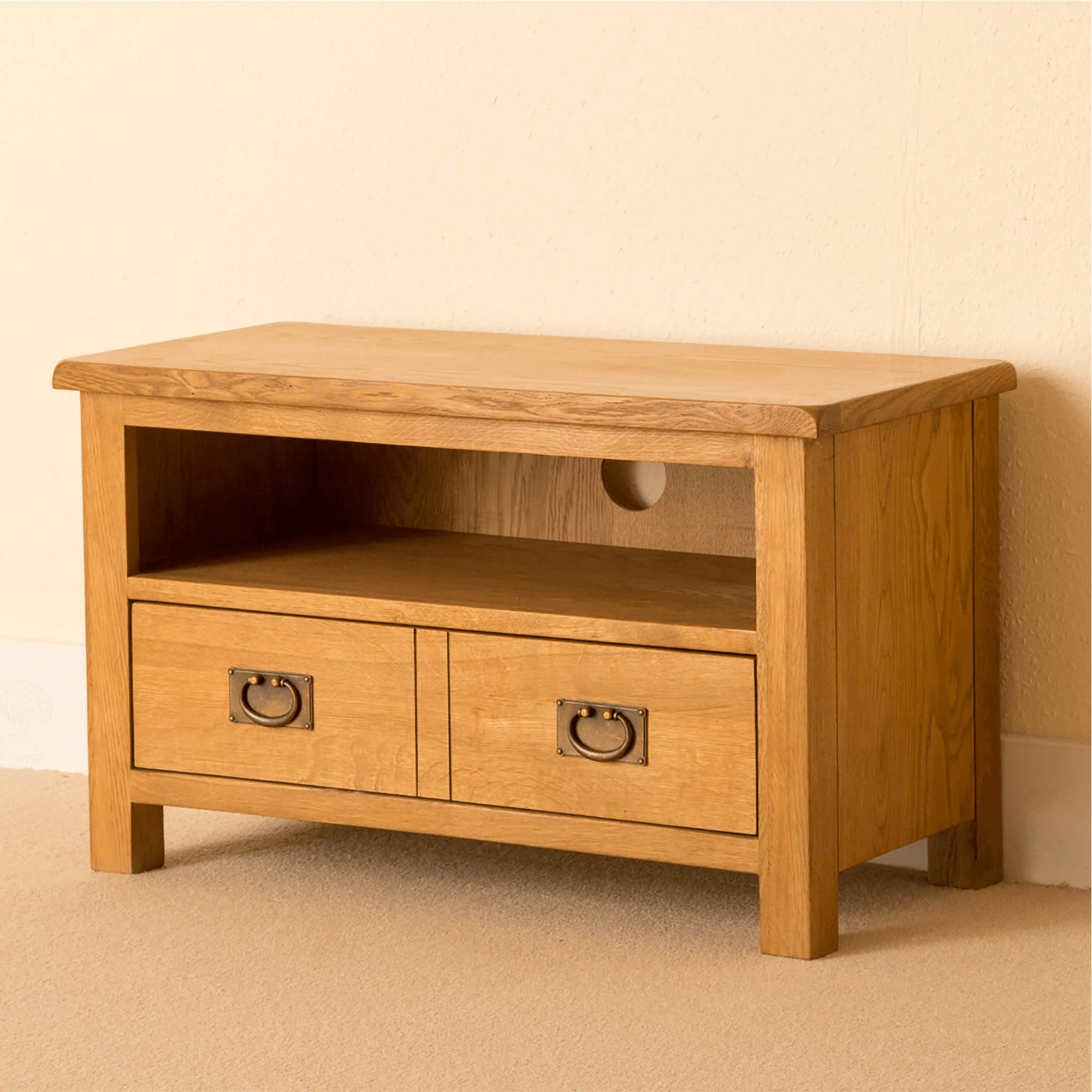 Lanner Oak 80cm TV Stand Unit by Roseland Furniture