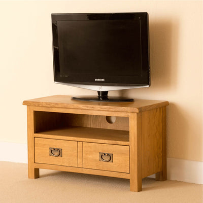 Lanner Oak 80cm TV Stand side view