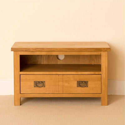 Lanner Oak 80cm TV Stand front view