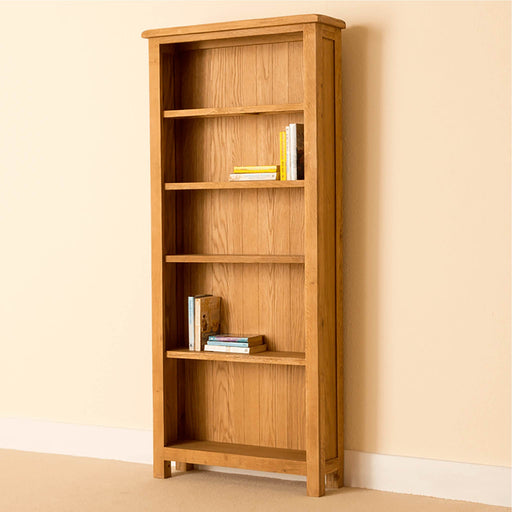 Lanner Oak Large Bookcase by Roseland Furniture