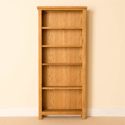 Lanner Oak Large Bookcase front view