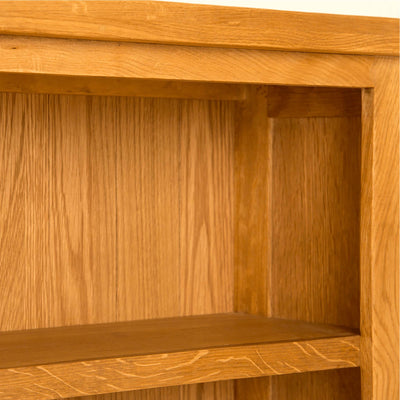 Lanner Oak Small Bookcase front corner view