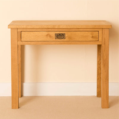 Lanner Oak Desk front view