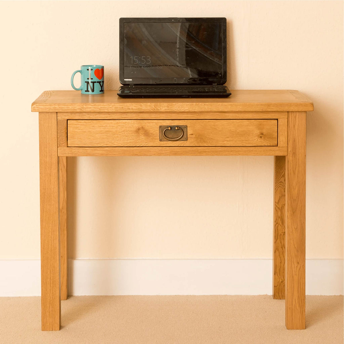 Lanner Oak Desk front view 2
