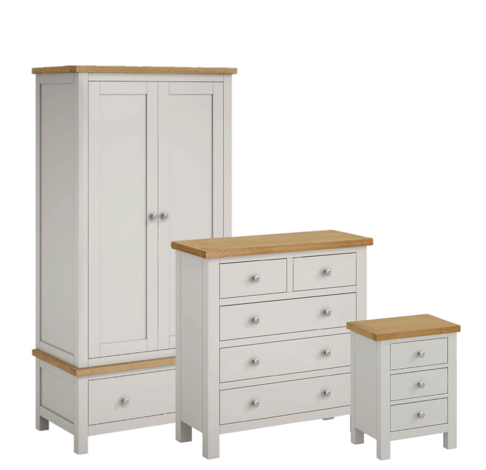 Farrow Grey Bedroom Set with 2 Over 3 Chest by Roseland Furniture