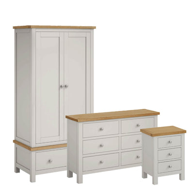 Farrow Grey Bedroom Set with 6 Drawer Chest by Roseland Furniture