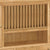 Zelah Oak Extra Large Hutch - Close Up of Hutch Plate Stand and Lower Shelf