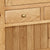 Zelah Oak Extra Large Hutch - Close Up of Hutch Lower Drawer Front