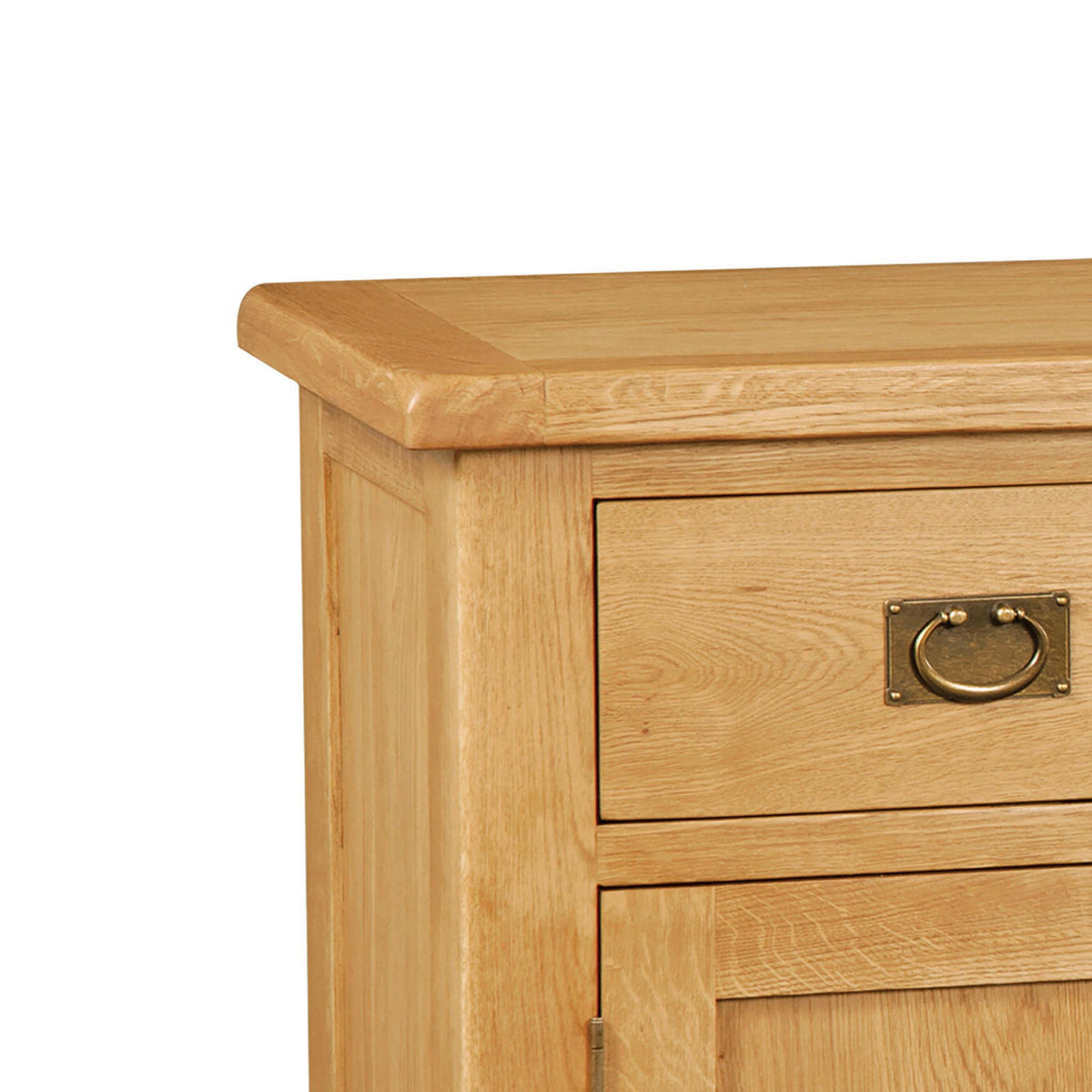Zelah Oak Large Sideboard - Close Up of Top of Sideboard