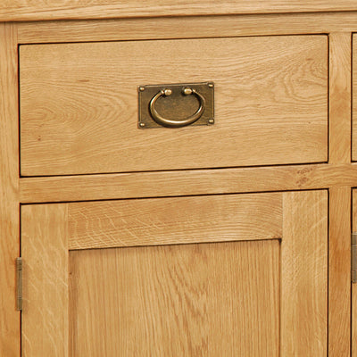 Zelah Oak Large Sideboard - Close Up of Drawer Front