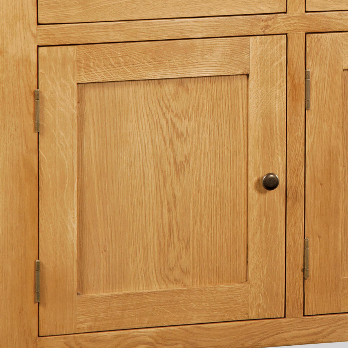 Zelah Oak Large Sideboard - Close Up of Cupboard Door