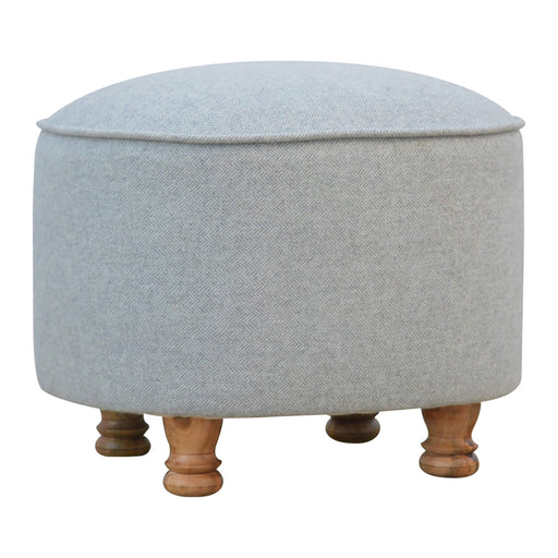 Artisan Grey Oval Footstool