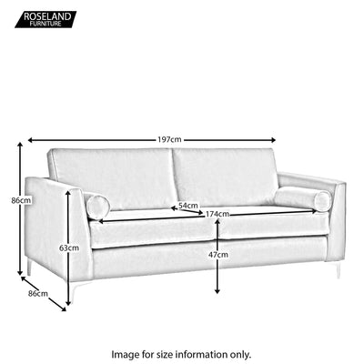 Ikon 3 Seater sofa - Size Guide