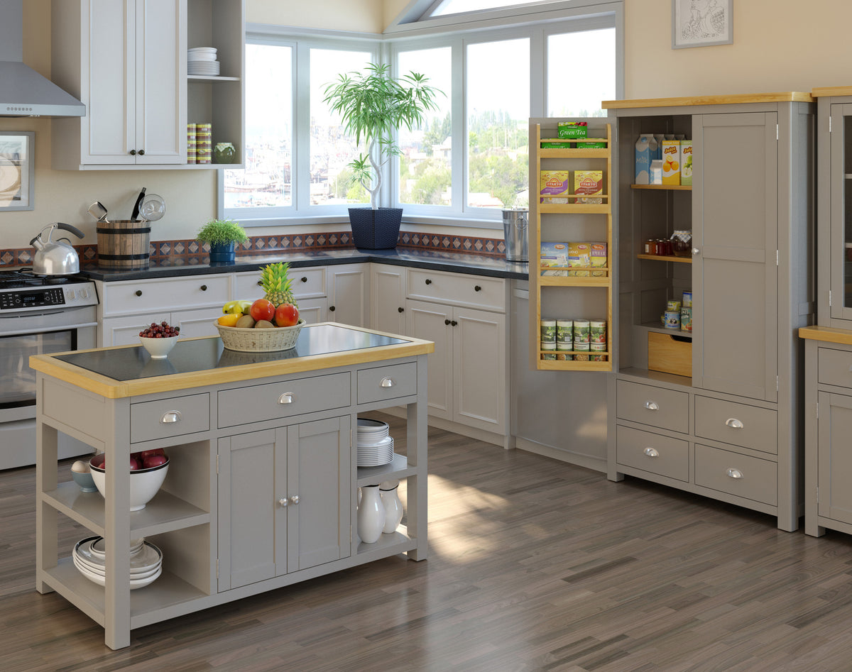 Padstow Grey Large Larder Unit - Lifestyle View